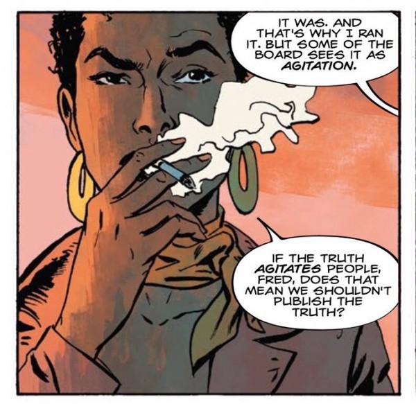 """Viñeta del comic """"Abbot"""" de Saladin Ahmed (Black Bolt) y Sami Kivelä ."""