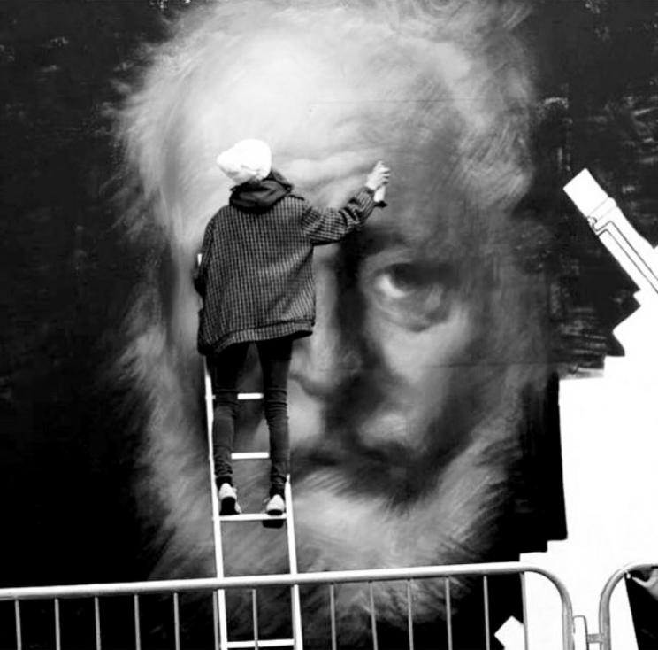 Belfast Culture Night mural in progress, Belfast, Ireland, 2017